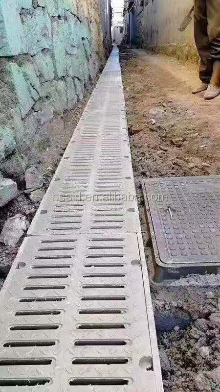 Polymer Concrete Gutter U Shaped Finished Drainage Ditches