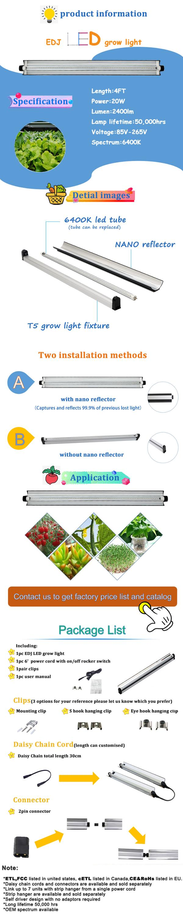 EDKFARM High-Efficiency indoor plants t5 aluminium led led strip light