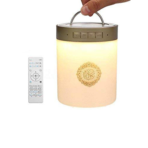 Hot Sale Smart Touth Warna-warni 7 Warna LED Lampu Bluetooth Digit Islam Quran Speaker