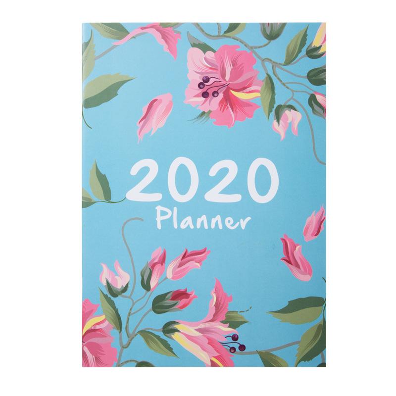 Повесток 2020 планировщик Органайзер A4 записная книжка и дневники DIY 365 дней план записная книжка Kawaii ежемесячный недельный график записная к...(Китай)