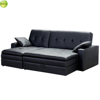 Italy Leather L Shaped Sofa Bed