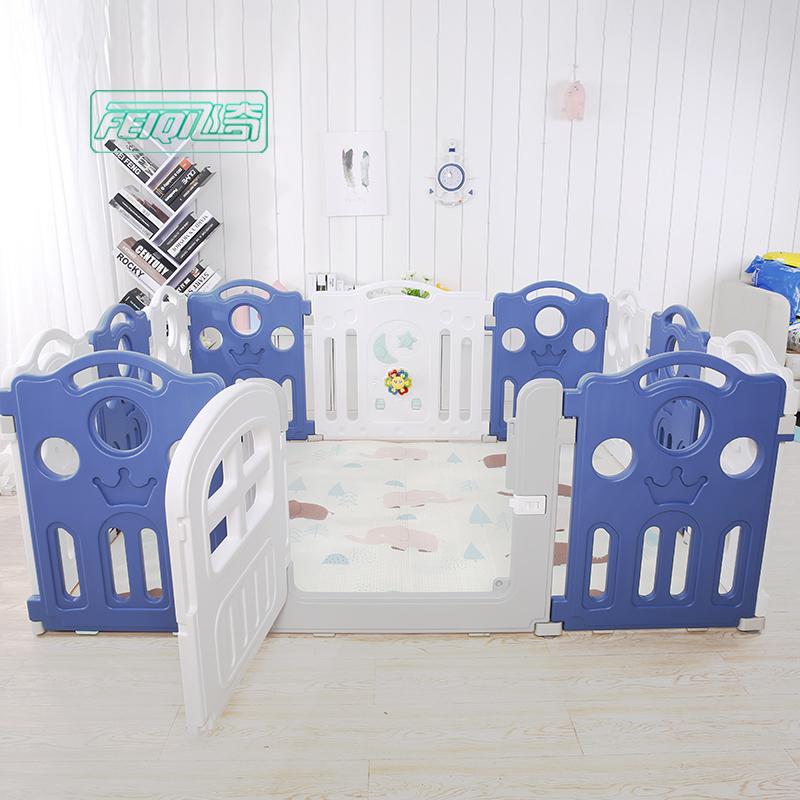Square Luxury Baby Playpen Kids Plastic Baby Fence