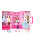 Lelia Sweet Party Star Closet Party Dress-Up Doll with Designable Sticker Carrying Storage Case