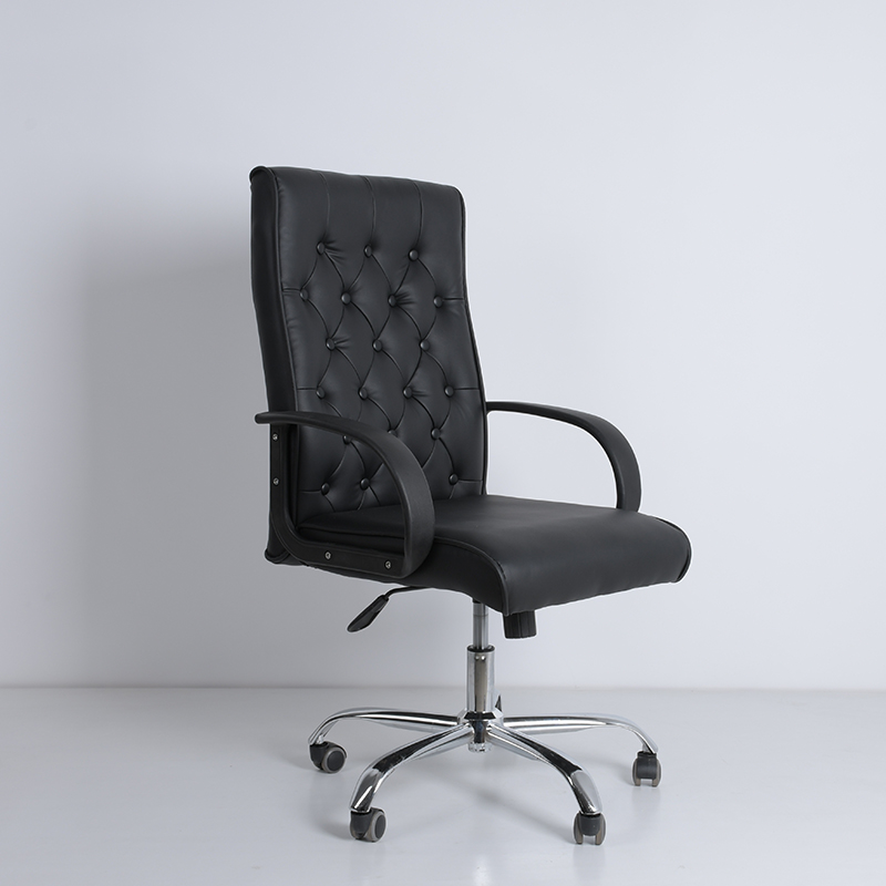 Sell best office furniture Black high back executive chair PU leather movable Swivel office chair