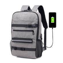 Рюкзак для скейтборда, Сумка с защитой от кражи и паролем, зарядка через USB, рюкзак для мужчин и женщин, для отдыха, путешествий, Компьютерная ...(Китай)