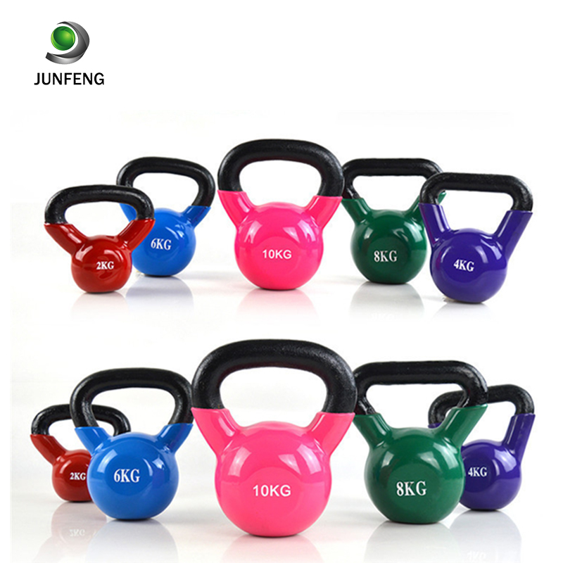 New China Wholesale Custom Logo Color Weight Competition Adjustable Cast Iron Kettlebell Sets