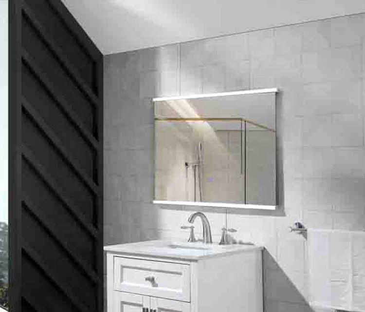 Frame Shower Large Vanity Mirror Light Wall Bluetooth Led Bathroom Mirror With Waterproof Ip44 Rating