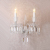 Modern decorative indoor glass crystal wall lamp for home
