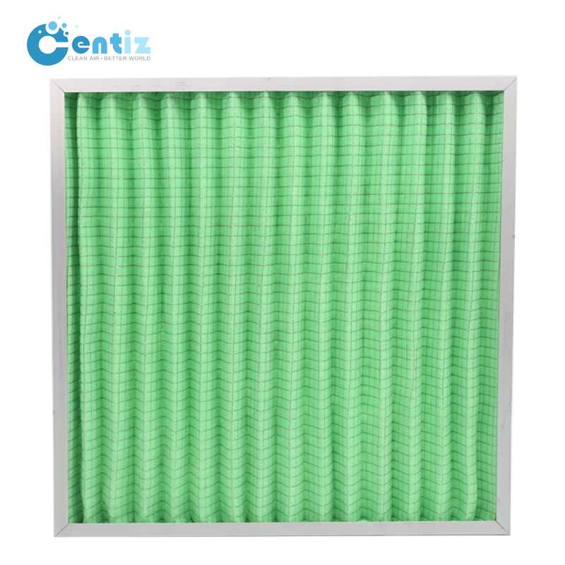 287*592*46MM Centiz Green F6 Medium Efficient Board Type Synthetic Fiber Industrial Clean Room AC Air Filter Manufacturer