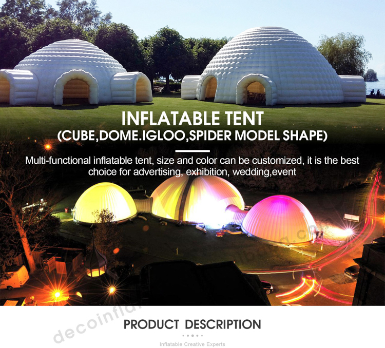 Inflatable planetarium projector dome