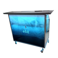 Luminous Glow mobile fixed light wedding reception event Bar Counter Portable Cocktail Bar outdoor/indoor bar counter for sale