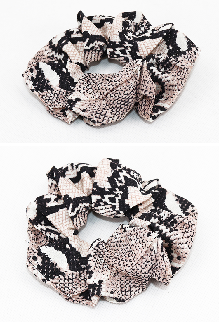 New Hair Rings And Cordage snakeskin chiffon elastic hair circle animal print HairBands