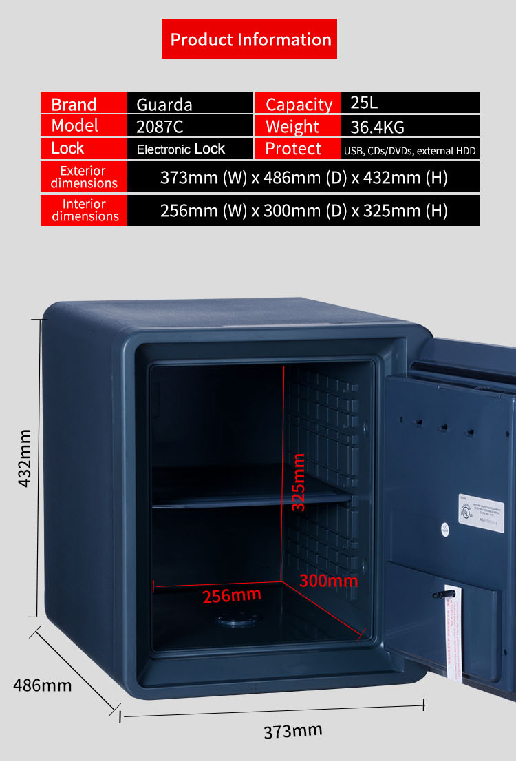 Guarda New fire waterproof safe for sale for business-4