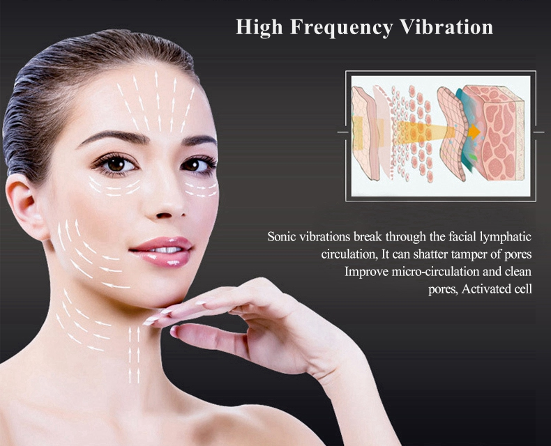 Hot sale ultra ionic face lift massager ultrasonic hot and cold facial massager