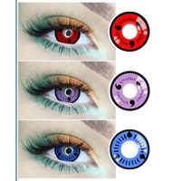 Realkoko OEM Yearly Sharingan Animei Halloween Cheap Cosplay Colored Contact Lenses Crazy Contact Lenses for Cosplay
