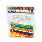 STEM Creative Building Construction Straw building blocks Toy plastic brick set 4D space for kid