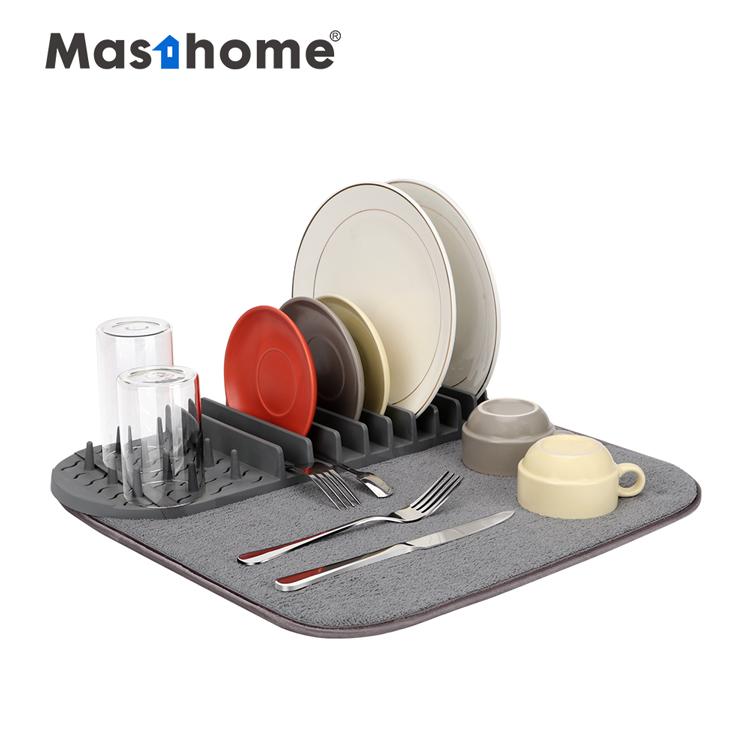 Masthome Eco-Friendly Countertop Dish Drying Rack Mat Kitchen Dish rack Mat