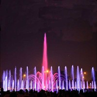 Outdoor Garden Water Fountain For Decorating with LED lights
