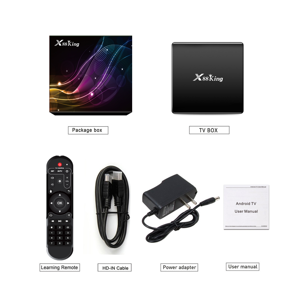 X88 kING 4 г RAM 128 г ROM android tv box 4 к 2019 для быстрой загрузки