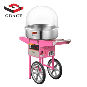 Commercial Use Cotton Candy Machine Candy Floss Maker With Cart With Trolley