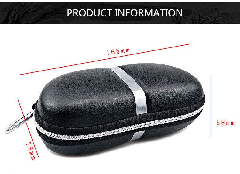 Cheap wholesale Custom logo anti press hard PU eyewear eye glasses packing case