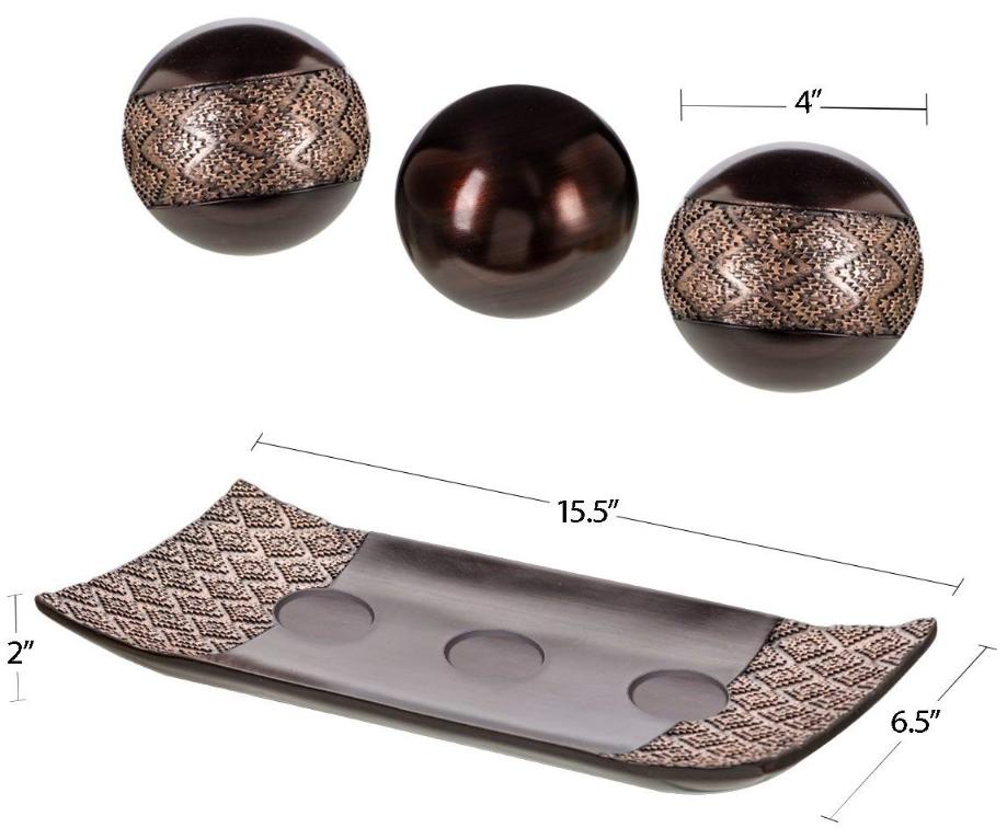 דבלין בית תפאורה מגש כדורי כדורי סט של 3-קפה מעטפת שולחן דקור מרכזי קערה עם תחומי בית קישוט