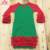 Wholesale Cotton Icing Ruffle Raglan Gowns  Long Sleeves Christmas Infant Cotton Baby Gowns
