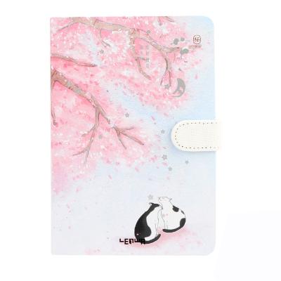 2020 длинное стихотворение маленький свежий милый блокнот дневник еженедельник бумажный блокнот магнитная пряжка цветная страница иллюстра...(Китай)