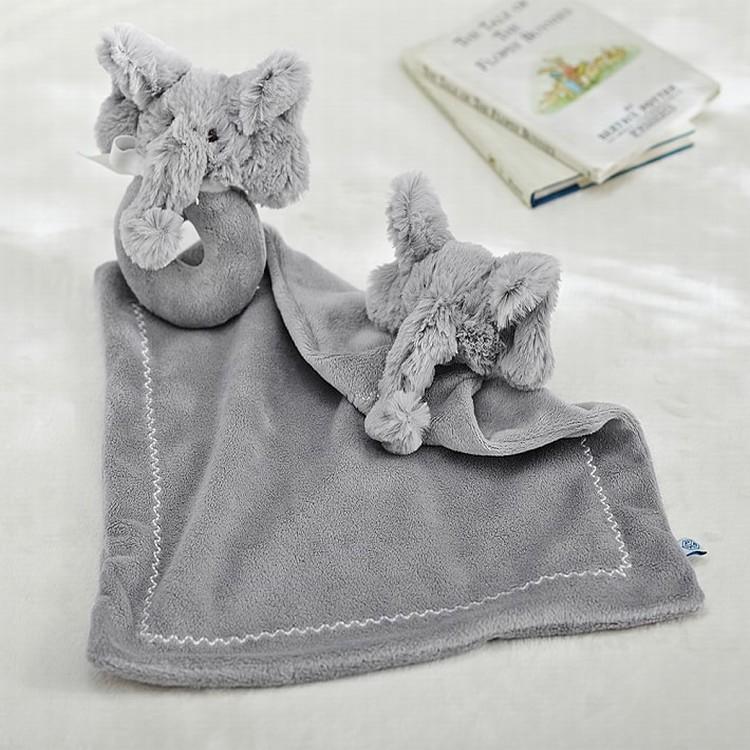 다양한 토끼 패턴 일반 염색 100% 폴리 에스터 사랑스러운 동물 보안 아기 담요 장난감
