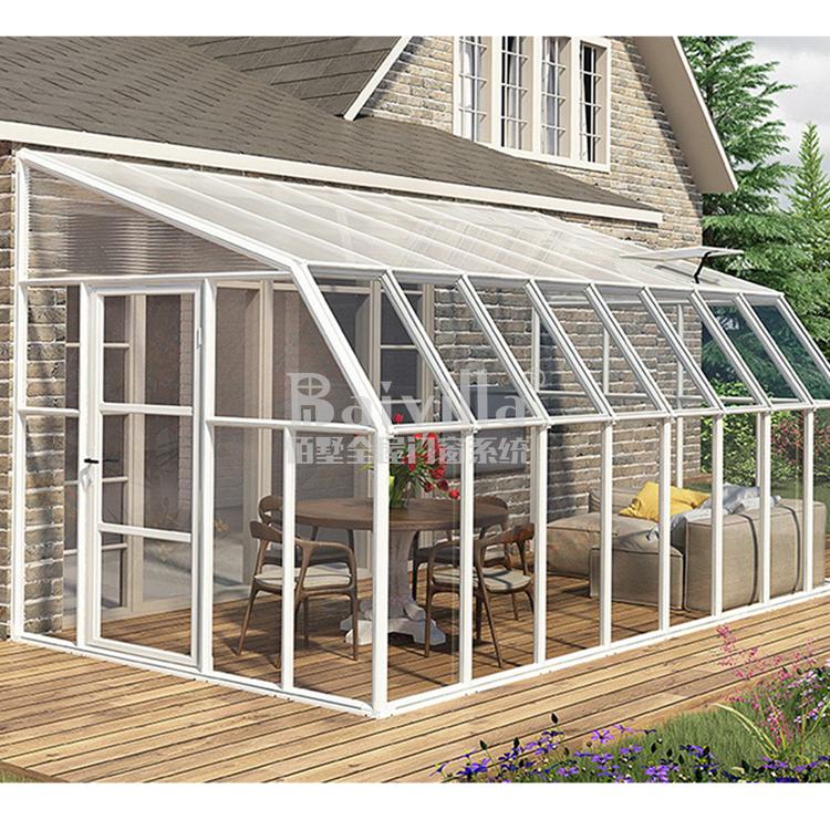Heißer Verkauf Tragbare Glas Zimmer Fertighaus Aluminium Garten Fertighaus In China