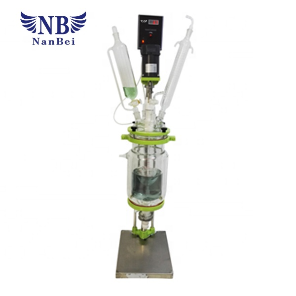 1L 2L 3L 5L dubbellaags ex-proof jacketed mini glas reactor