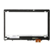 FHD 15.6 inch Display LCD Touch screen Digitador Assembléia para Lenovo Flex 4 4-1580 80VE 15 Flex Flex 4-1570 80SB com Moldura