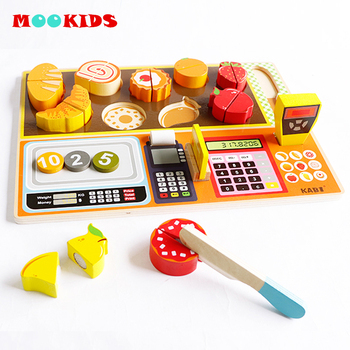 Wooden Kitchen food Toys Set Vegetables Fish Cooking Kitchen Toys for Kids Early Education Food Toys gifts kids games