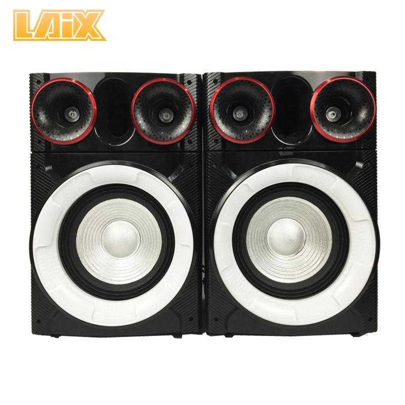 Laix SS-12 Professionele Actieve Fase Luidspreker met Disco Licht BT PA Systeem Karaoke 8 inch Bass Party Multimedia Speakers