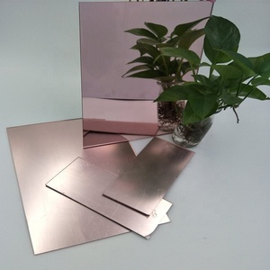 Customized Colorful Rose Gold 1220*1830Mm 1.5Mm Acrylic Mirror Wall Sticker