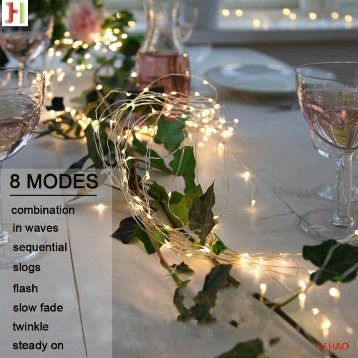Hot販売防水バッテリ駆動8 modesTimbo ledトゥインクルライト200 HolidayとホームdocorationためLEDS