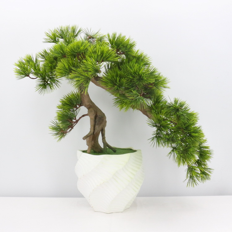 High simulation artificial plastic plant <strong>home</strong> decor green pine bonsai