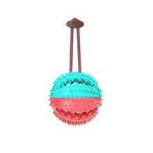 Игрушки для собак интерактивный натуральный резиновый шарик для домашних животных забавная Интерактивная эластичность чистые зубы играющ...(Китай)