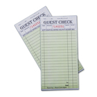 Large stapled restaurant bill book check order pad guest check for hotels