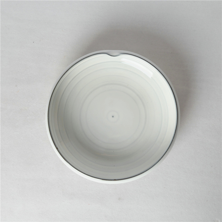 Unique design tableware rustic porcelain ramen salad bowl for restaurant