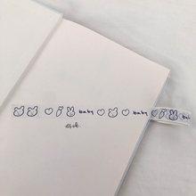 Простая мультяшная клейкая лента SIXONE для рукописной записи на английском языке, декоративные ленты, корейские Канцтовары kawaii для скрапбуки...(Китай)