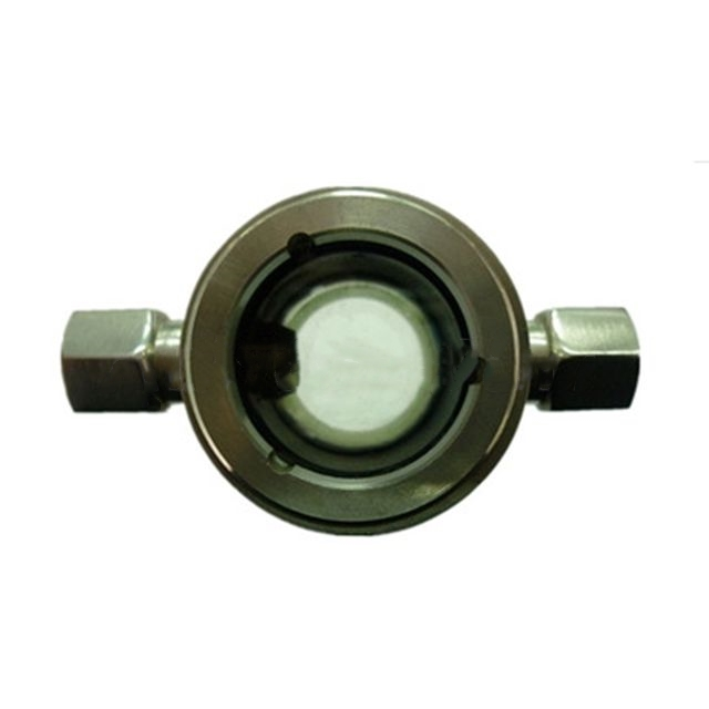 Threaded industrial water sight glass flow meter