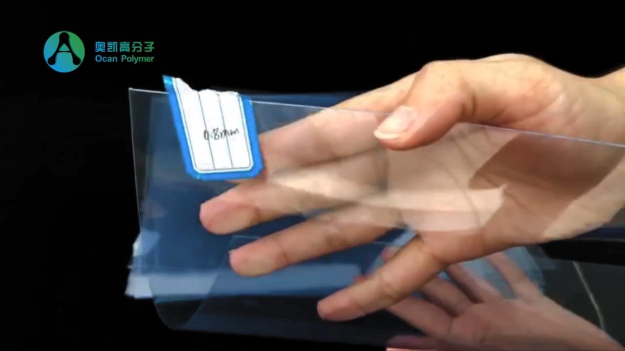 Super claro folhas de plástico transparente de PVC rígido com película protetora DO PE