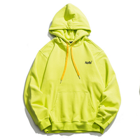 fashion high quality cotton street men oversize neon green hoodies with custom logo