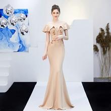 YIDINGZS прозрачное длинное платье подружки невесты с аппликацией из бисера и открытыми плечами, элегантное платье для свадебной вечеринки, ...(Китай)