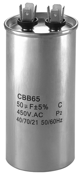 Refrigeration Spare Parts CBB65 Series Motor Run Capacitor For Air Conditioner