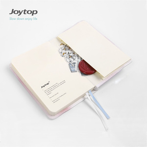 Joytop Classic Leather Hardcover mini Notebook with Bookmark, Elastic Band & Pocket for Check list, Shopping or Travel 1903004