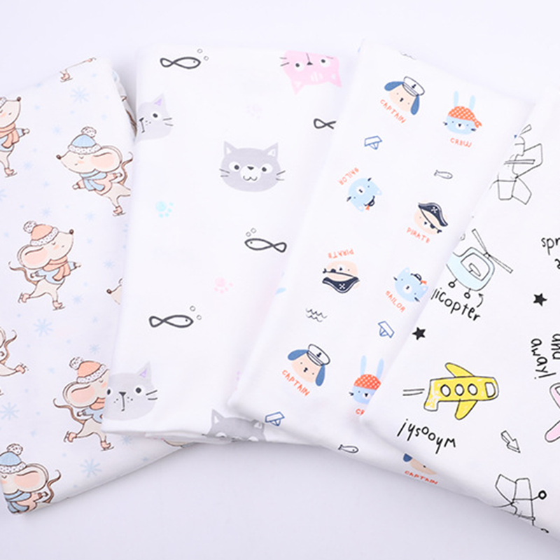 100% combed <strong>cotton</strong> 40S double-sided <strong>knitted</strong> printed fabric for t-shirt and baby underwear fabric