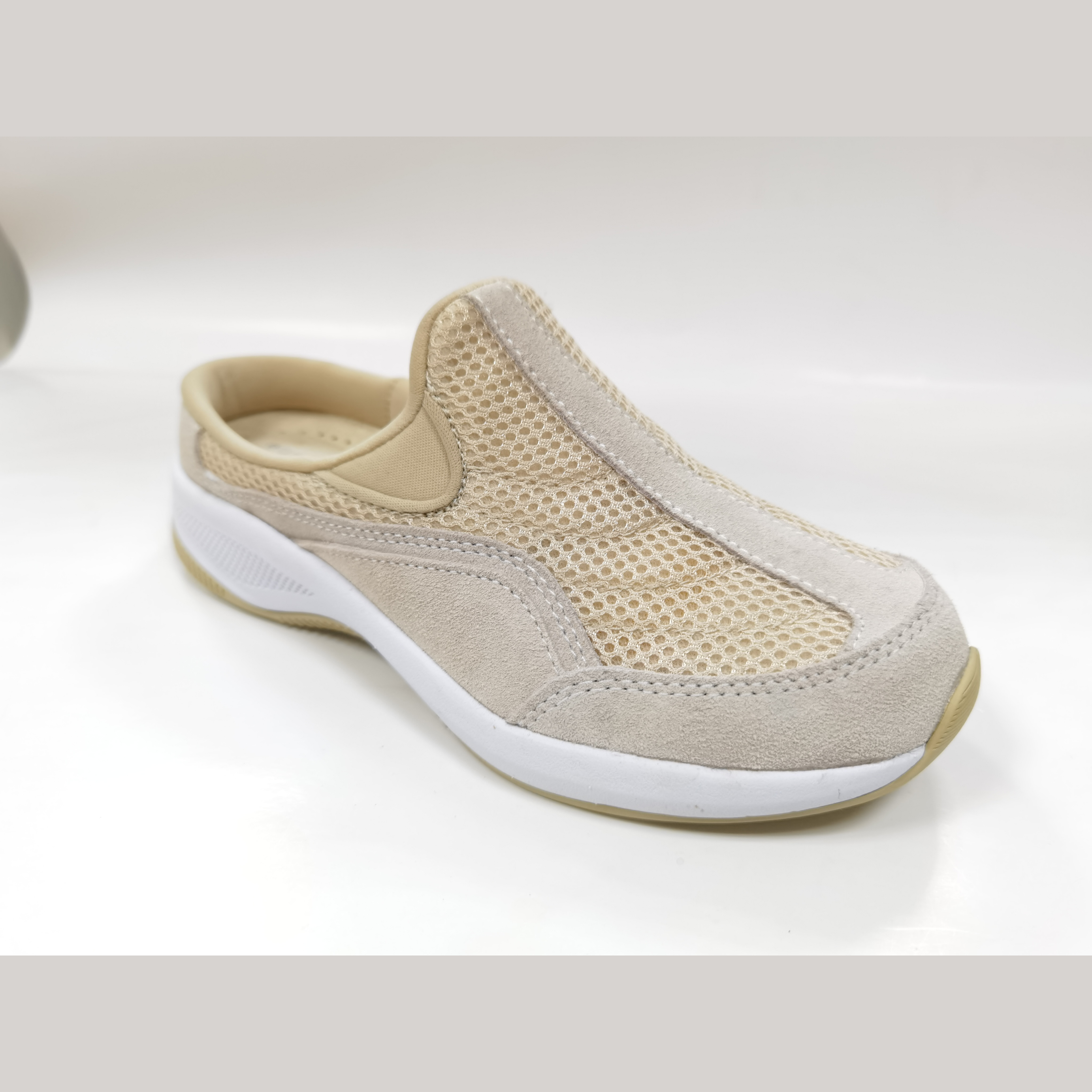 Dropshipping Leather Mesh Women Sneakers Shoes Flat Slip on Platform Sneakers for Women
