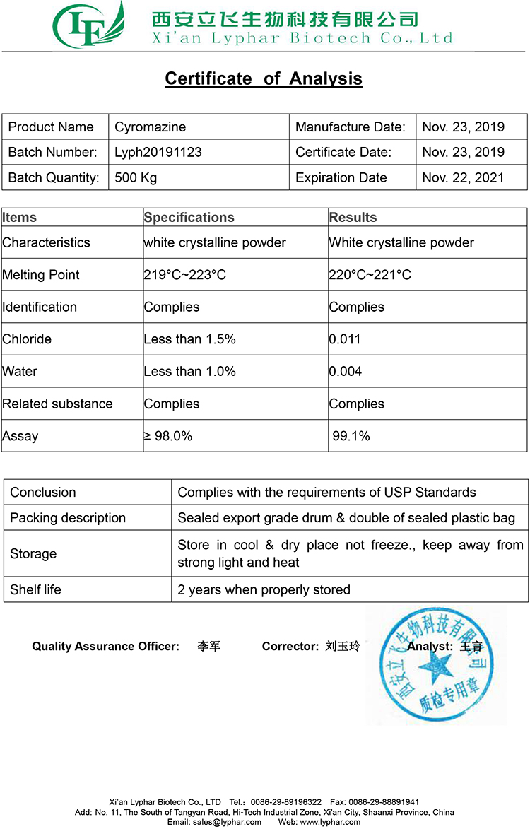 Atacado Preço 99% Ciromazina Ciromazina